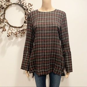 Zara Plaid Tunic Top